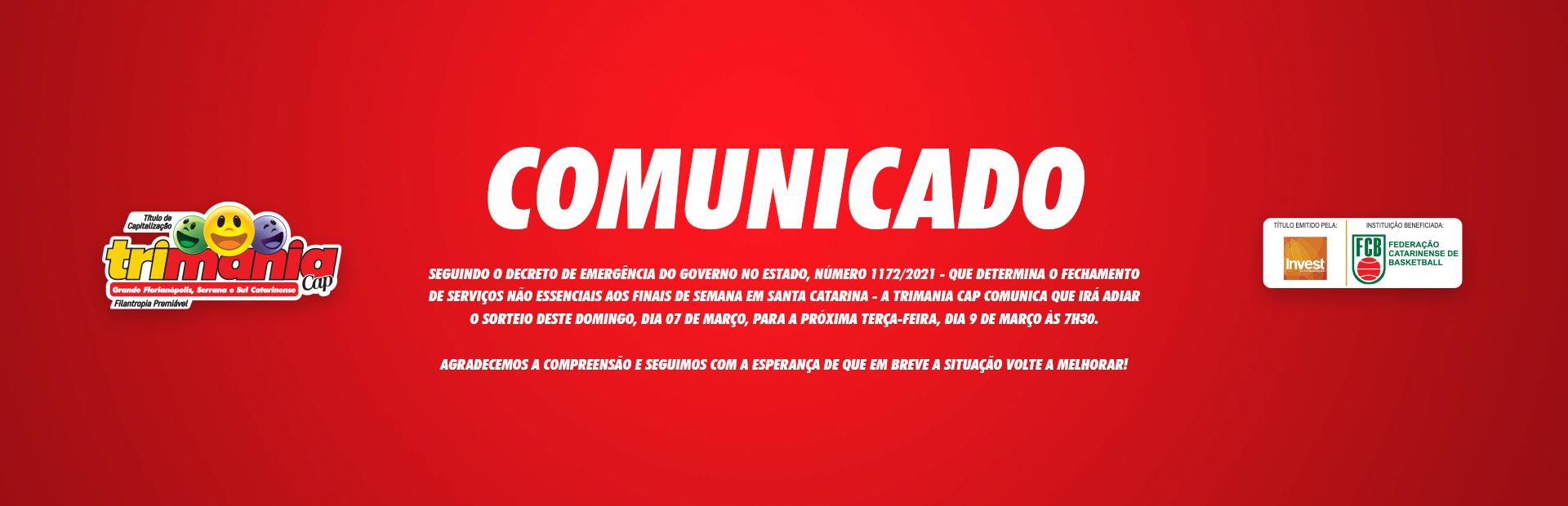 COMUNICADO 09/03/2021 #1